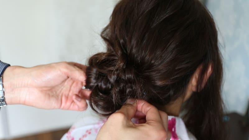 12:毛束を引き出す