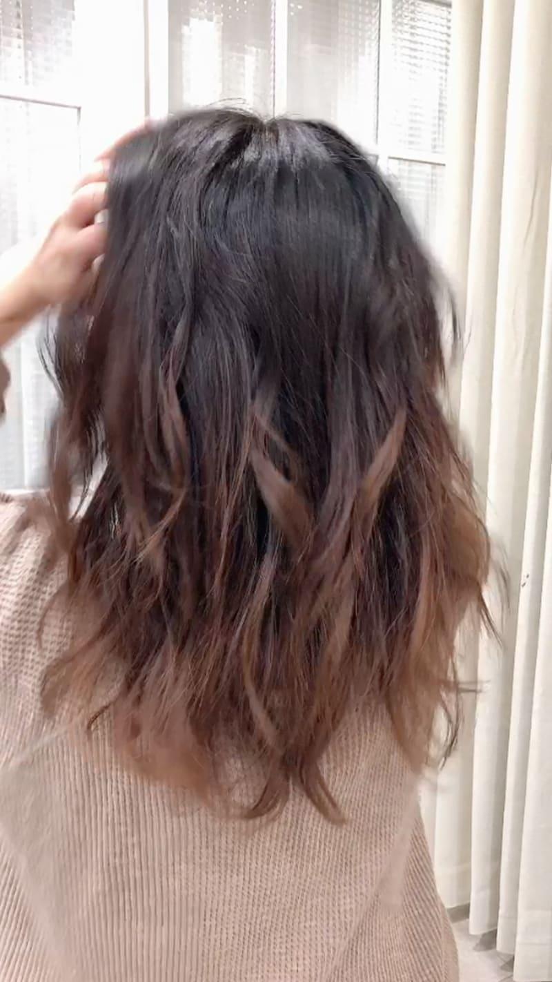 プロセス3:毛束をほぐす