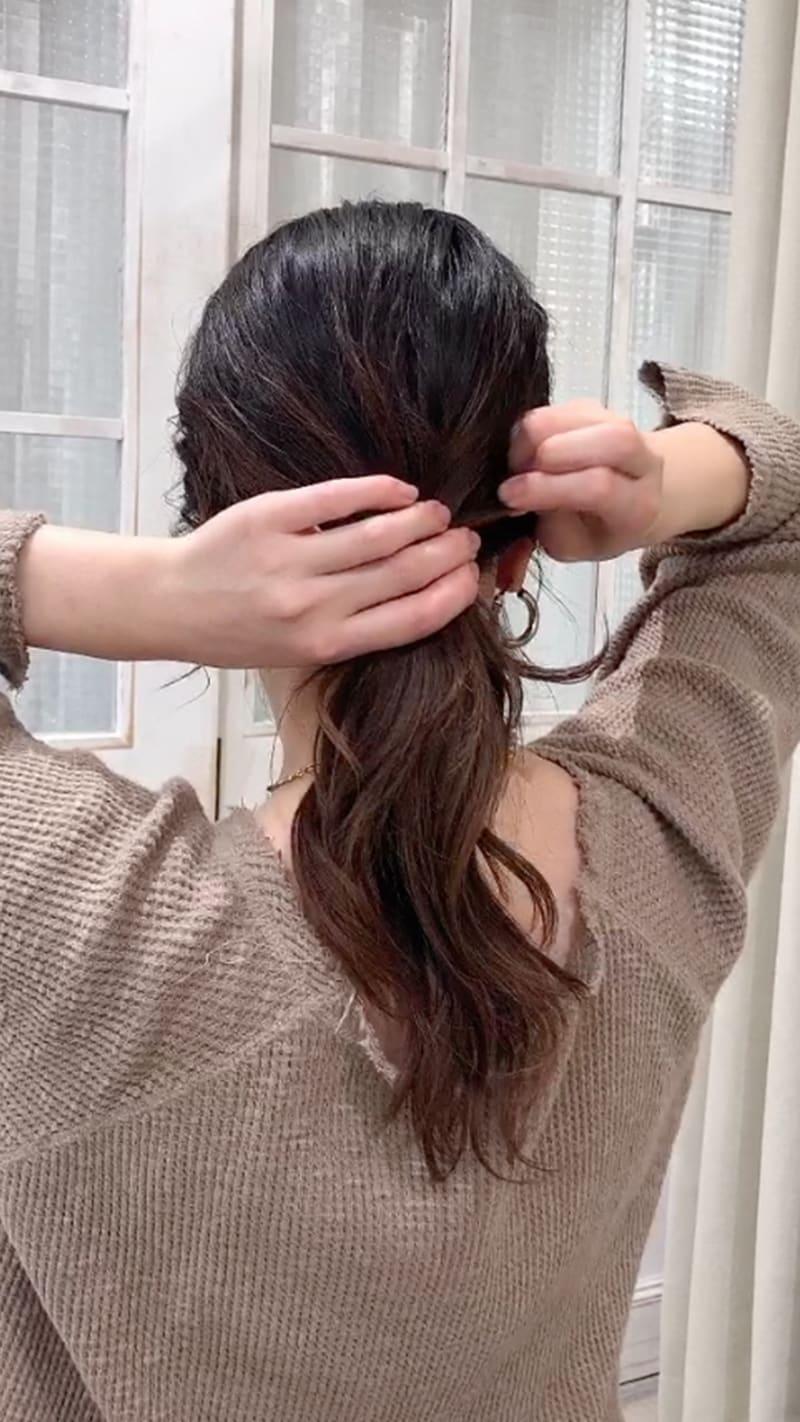 プロセス7:毛束を引き出す