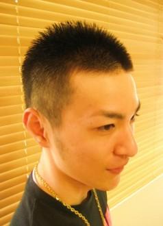 メンズベリーショート、クールな男髪/1枚目