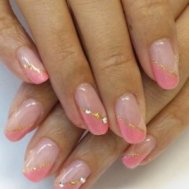 ピンク×ベージュ☆◇2カラーフレンチネイル◇
