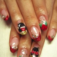 クリスマスネイル《ミッキー&ミニー》