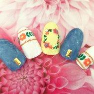 メキシコ 花刺繍風