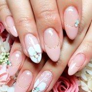 ピンク×お花フレンチ