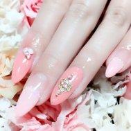 ピンク×ガーリーネイル