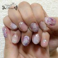 紫陽花&水滴ネイル