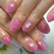 ピンク×ラメ