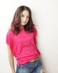 【SARA】小顔カットスタイル ピンクグラデーションカラー