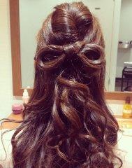 髪の毛でリボン ♪ ♪
