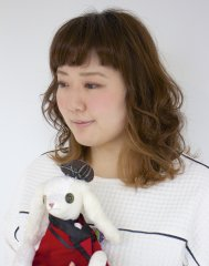 【amon】カラーでイメチェン☆ナチュラルミディスタイル☆