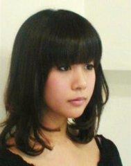 〈セミロング〉黒髪カールスタイル