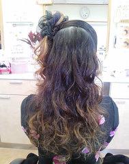 結婚式の巻き髪