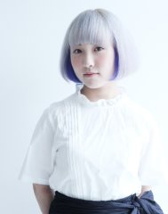 【TAAN】外国人風ショートボブ + ホワイト