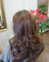 パーマスタイル美髪