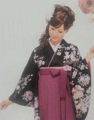 卒業式・袴着付け¥5000