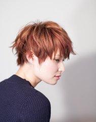 【NiL】束感ショート × 3Dピンクカラー