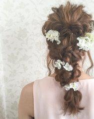 花と編み込み