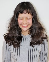 前髪パツーン☆ふわふわロング