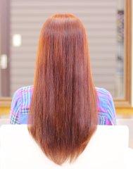 【極潤】大人のロング髪×ブリックオレンジカラー