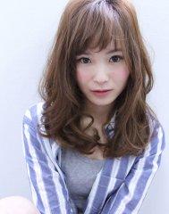 【affect】ランダムカールの小顔ミディアムパーマ