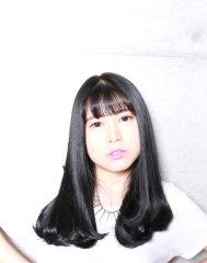 シースルーバング+ツヤ髪Aライン
