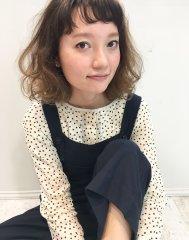 noir hair style/07ふわふわグレージュ