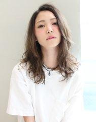 【MARIS】リラックスセミディ/外国人風ミルクベージュ