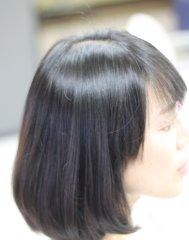 毛先のプリンになっている髪の状態をトリートメントで修復