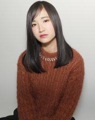 黒髪×ストレート