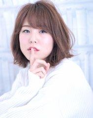 ラフさと甘さが可愛い☆小顔ボブ【DERA'S】