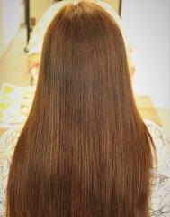 美髪ロングストレートヘア