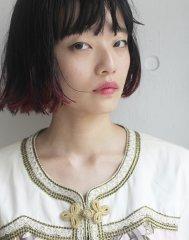 bibito  切りっぱなしボブ 裾カラー
