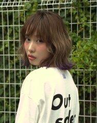 【M/Berry Pink】外ハネニュアンスカール