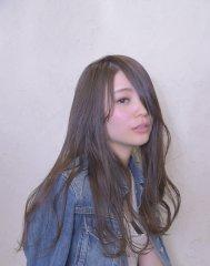 大人ロング×透け感カラー