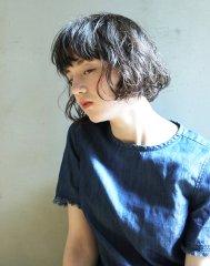 スタイリング簡単☆クセ毛風パーマスタイル