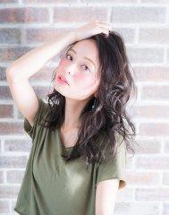 【miel hair】かき上げバング大人カジュアル