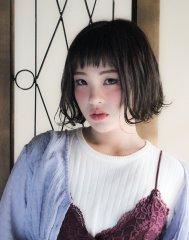 ☆短めバングの外ハネガーリースタイル☆