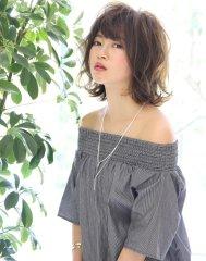 【M.SLASH藤沢】ランダムカール色っぽミディ