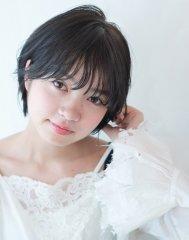 【Luxe根本】透明感×丸みのあるセミウェット夏ショート