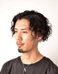 ツーブロック★マッシュ黒髪ウェーブ