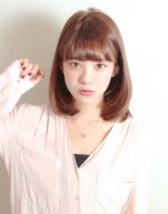 XELHA『東省吾』の吉岡里帆さん風ミディアムボブ