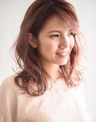 セミウェットミディ【keep hair design 甲田】