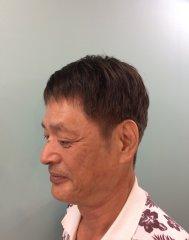 60代男性 男前カット+白髪染め