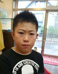 男の子ショートヘア