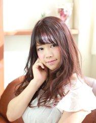 【LUXE for hair】マルサラ☆ふんわりロング☆松山