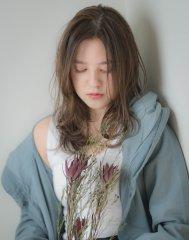 【abiquiu】大人かわいいセミウェットシフォンウェーブ