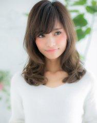 【シエル松戸】斜めバング ミルクティーカラーが大人かわいいa