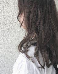 セミロングで透ける暗髪ヘア♪お客様スタイル