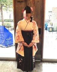 蒲田 卒業式 袴着付け 編み込みサイドダウンスタイル