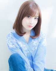 XELHA【谷 賢二】ナチュラル透明感カラー☆ミディアム